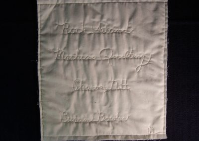An example of how script can be incorporated into your quilt.